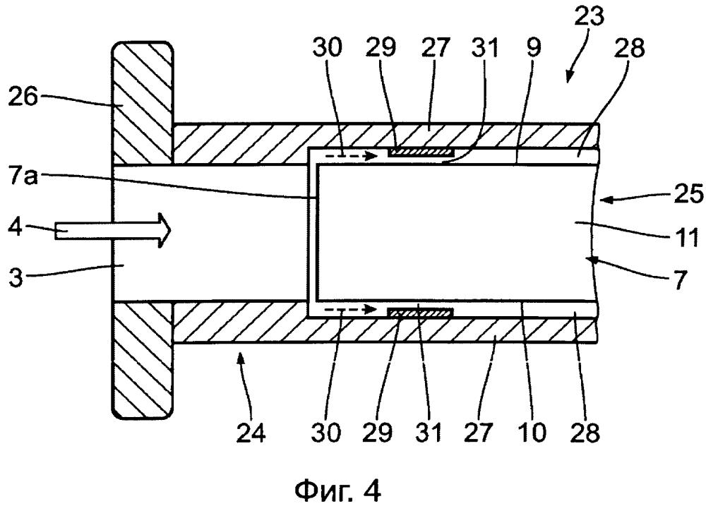 Расходомер, содержащий измерительный вкладыш, который вставлен в корпус