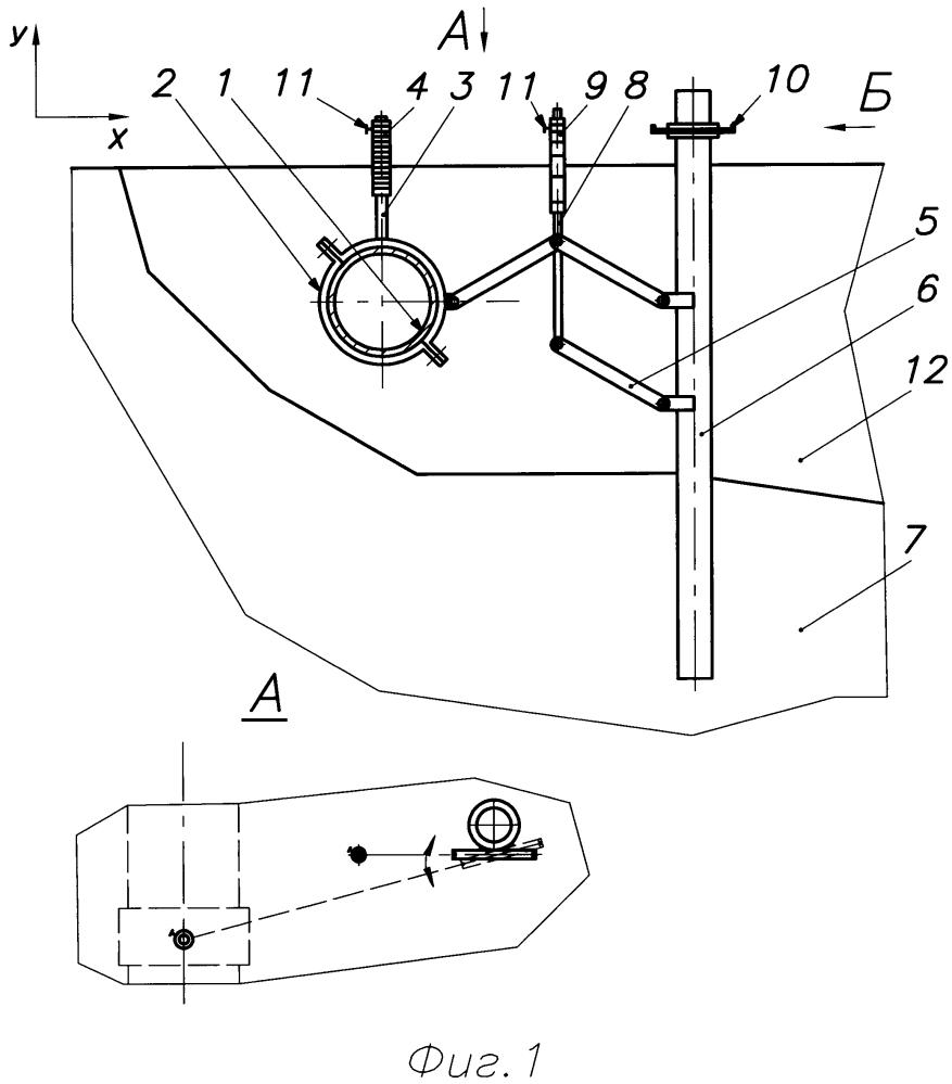 Устройство для определения планово-высотного положения подземных трубопроводов