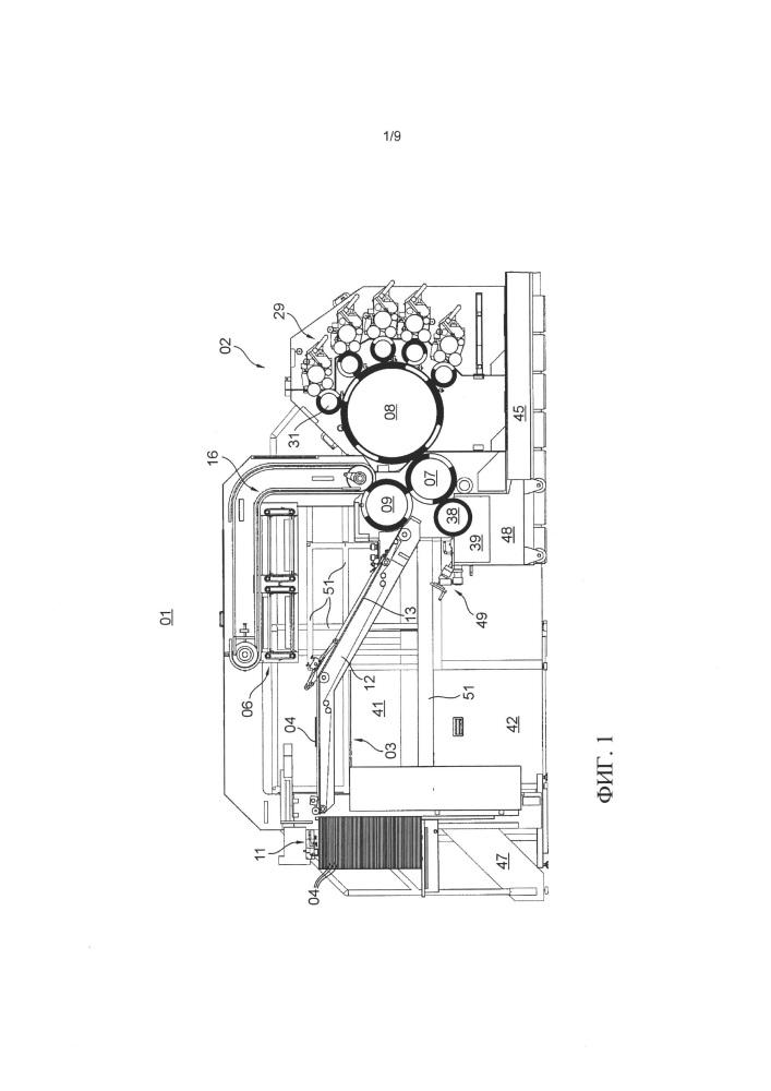 Машина для глубокой печати и печатная установка с машиной для глубокой печати