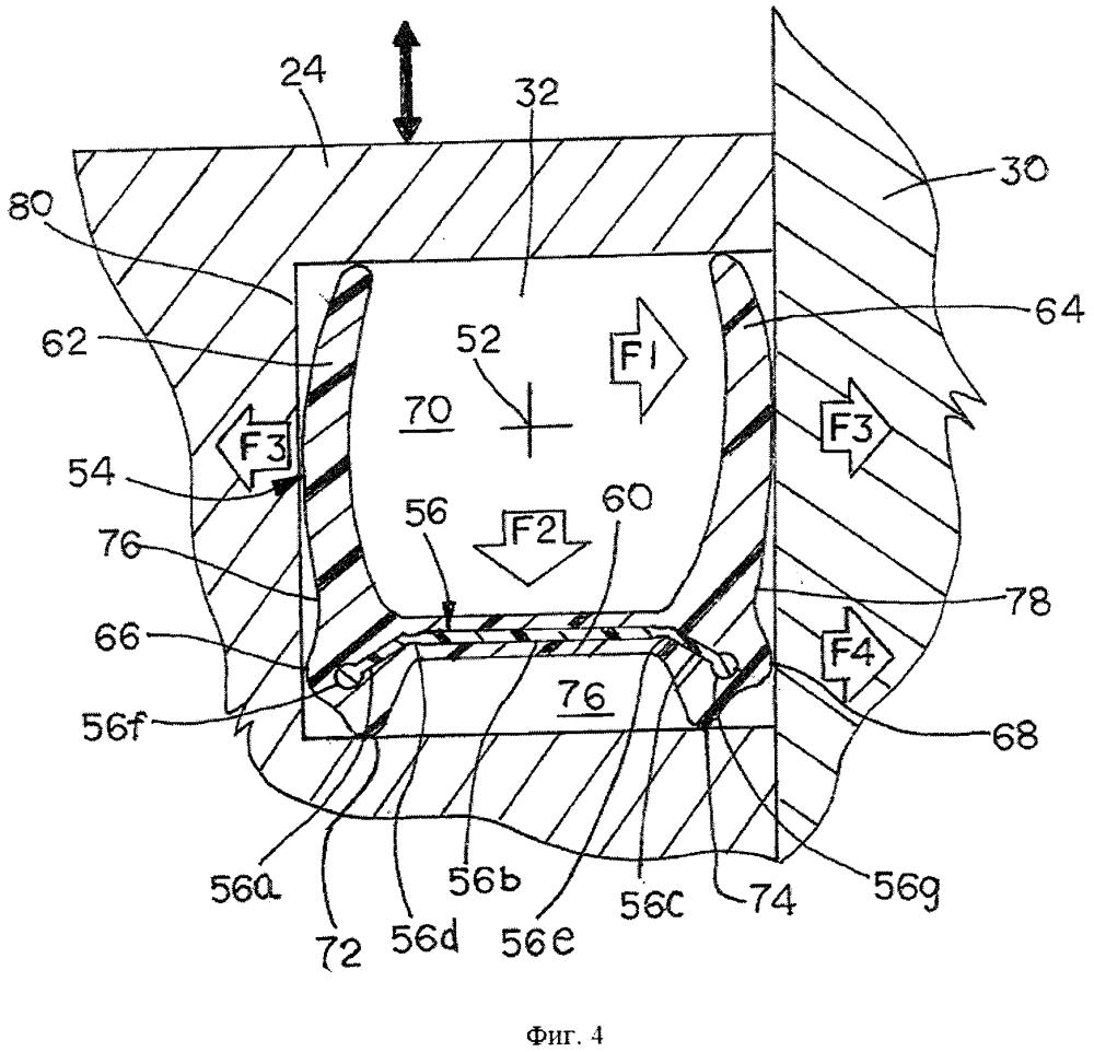 Двухступенчатое уплотнение для клапана (варианты) и блок клапана