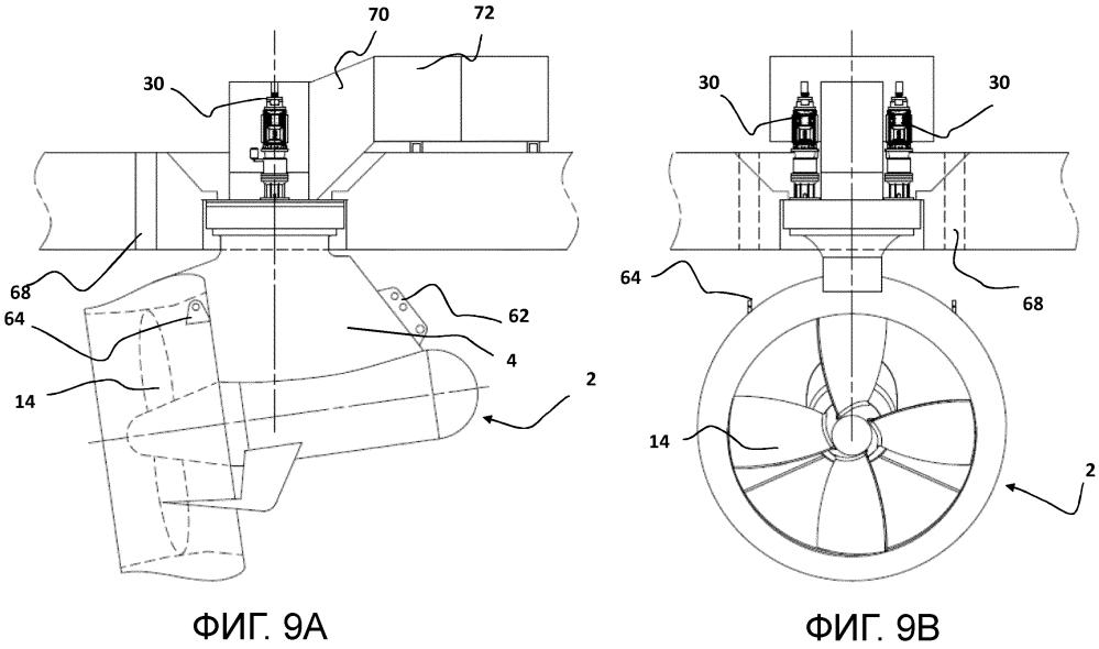 Система и способ монтажа гребного агрегата