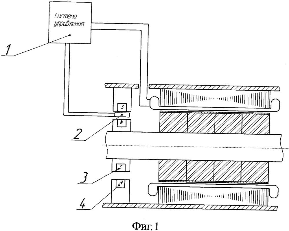 Беспазовый синхронный генератор с интегрированным магнитным подвесом