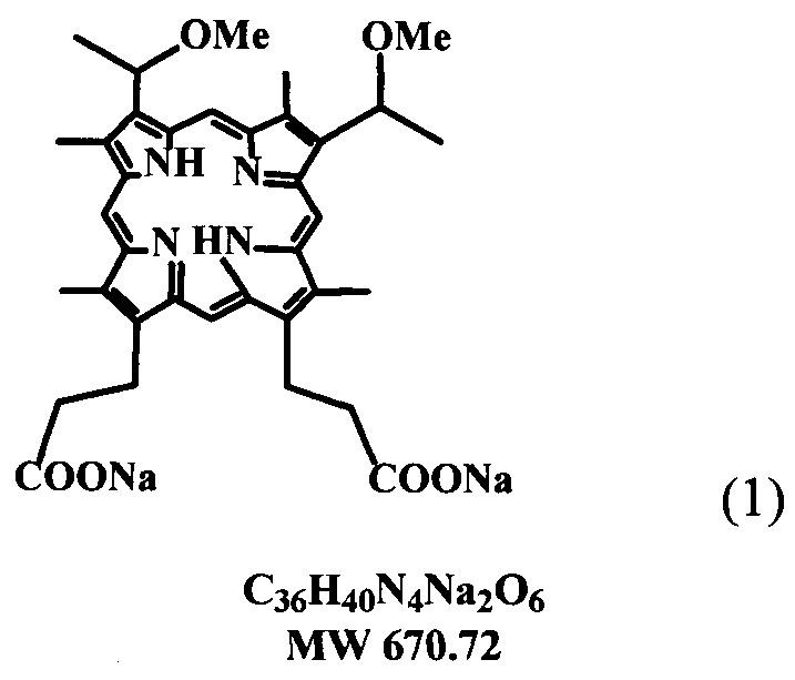 Способ получения динатриевой соли 2,4-ди(1-метоксиэтил)дейтеропорфирина-ix (димегина)