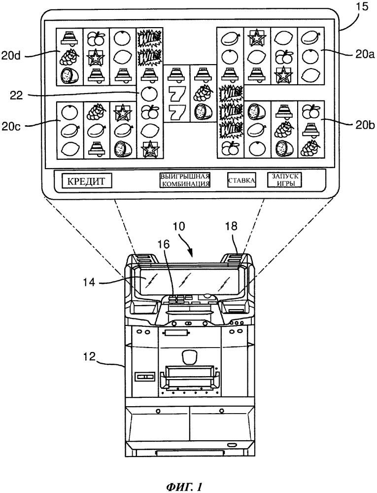 Игровой автомат с наборами барабанов