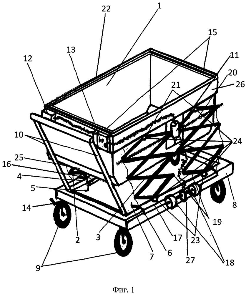 Тележка складная для транспортировки в багажнике автомобиля