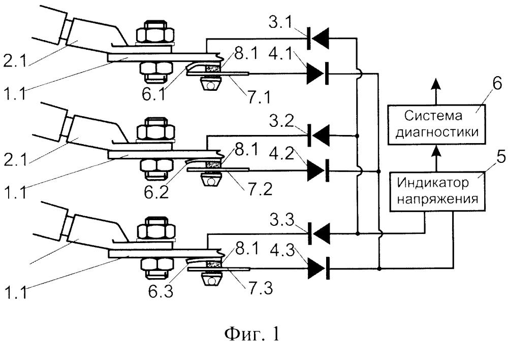 Устройство диагностики контактов силового электрооборудования