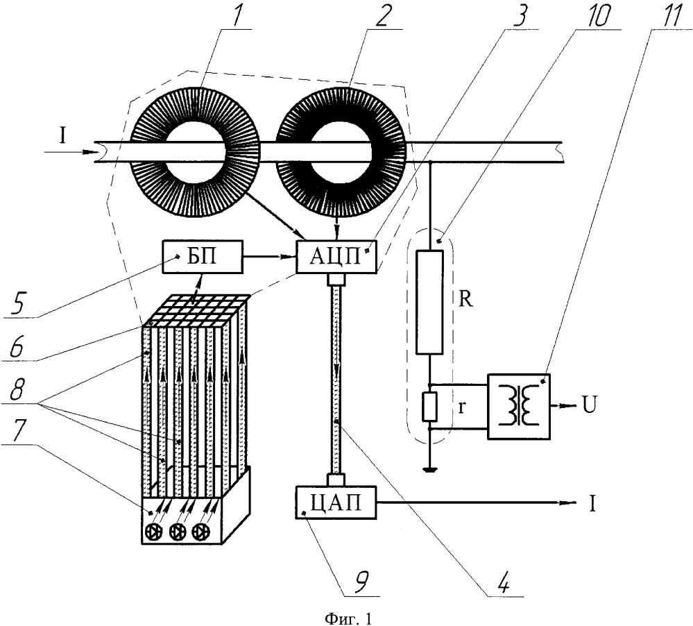 Устройство измерения переменного тока и напряжения с гальванической развязкой