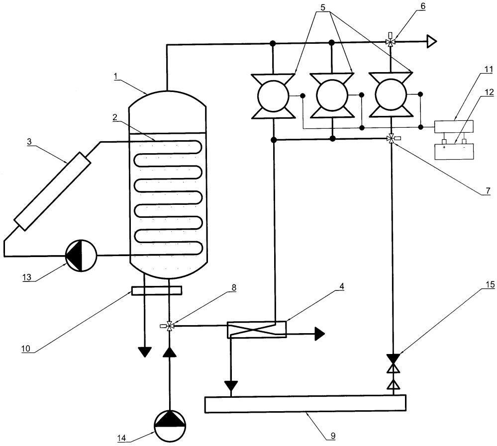 Вакуумная опреснительная установка с генерацией электроэнергии
