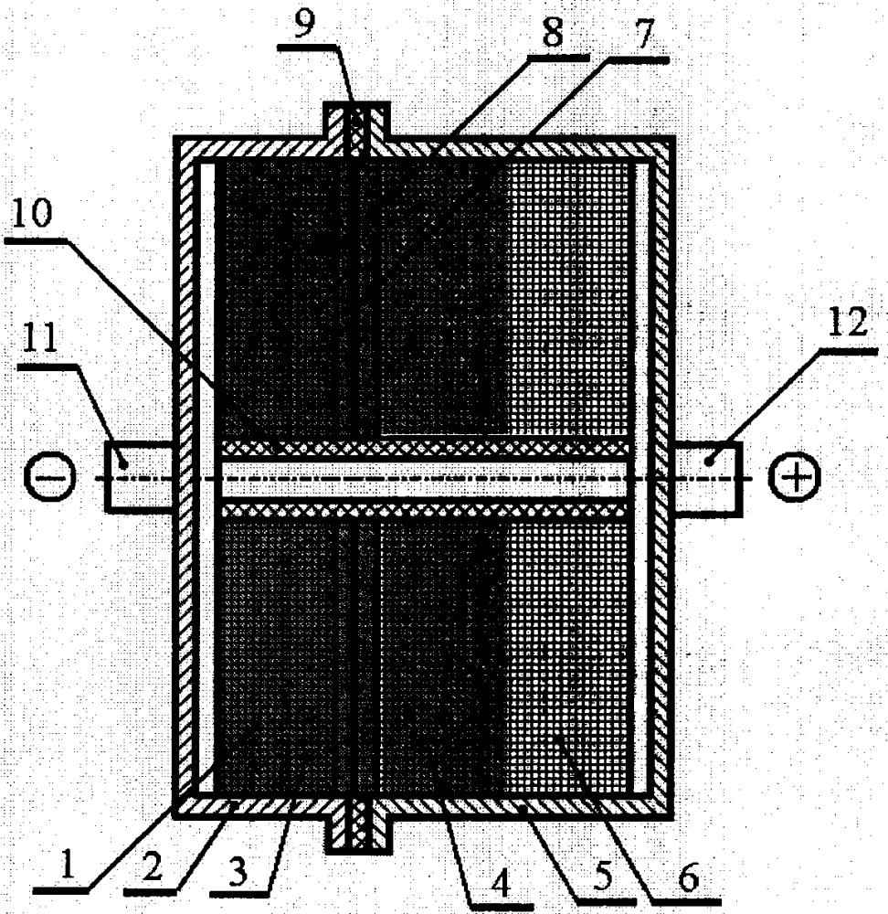 Химический источник тока с реакционно формирующимся электролитом