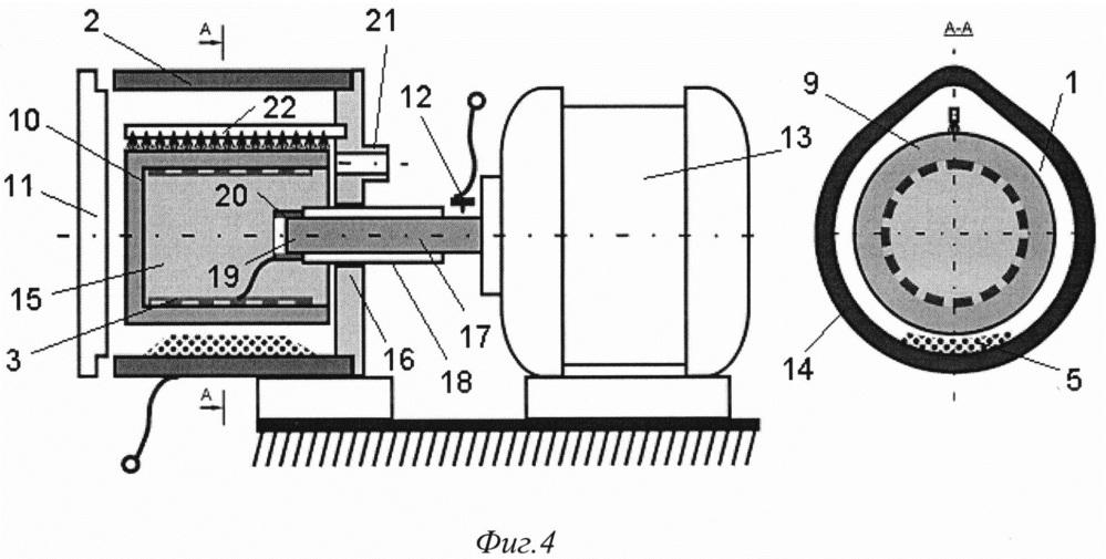 Газоразрядный модификатор углеродных наноматериалов барабанного типа