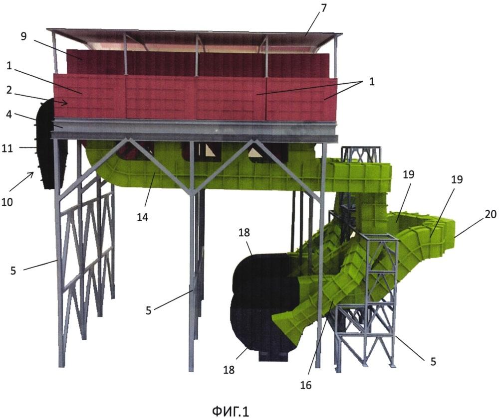 Система промышленной пылегазоочистки с применением рукавных фильтров