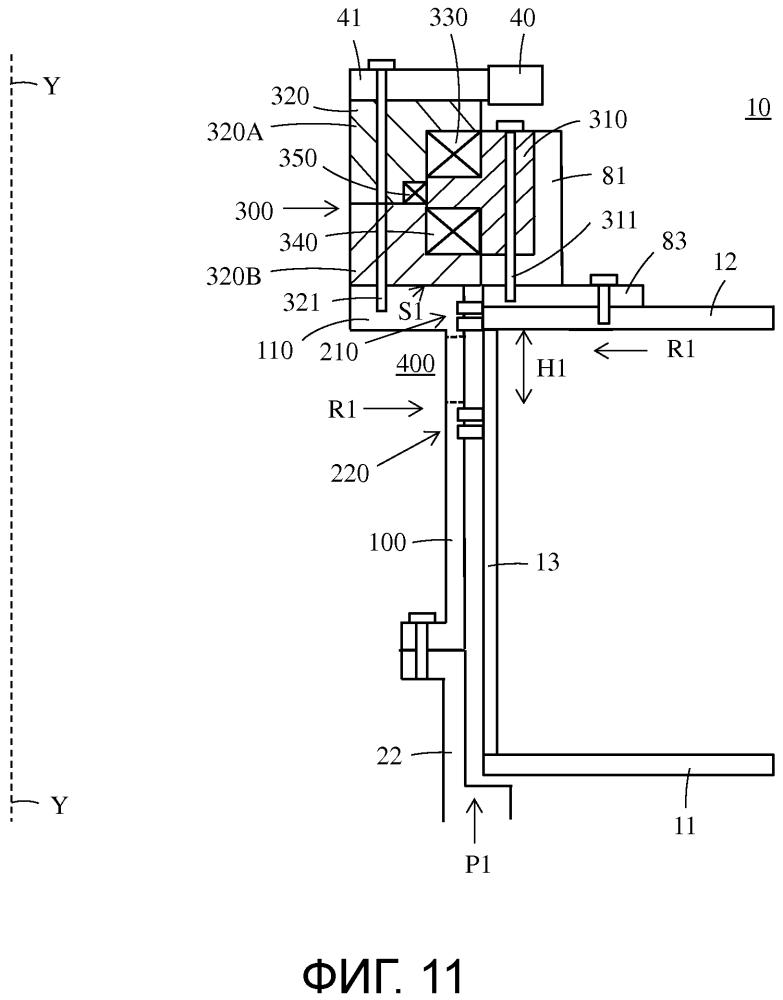 Конструкция поворотного уплотнения для двигательного блока