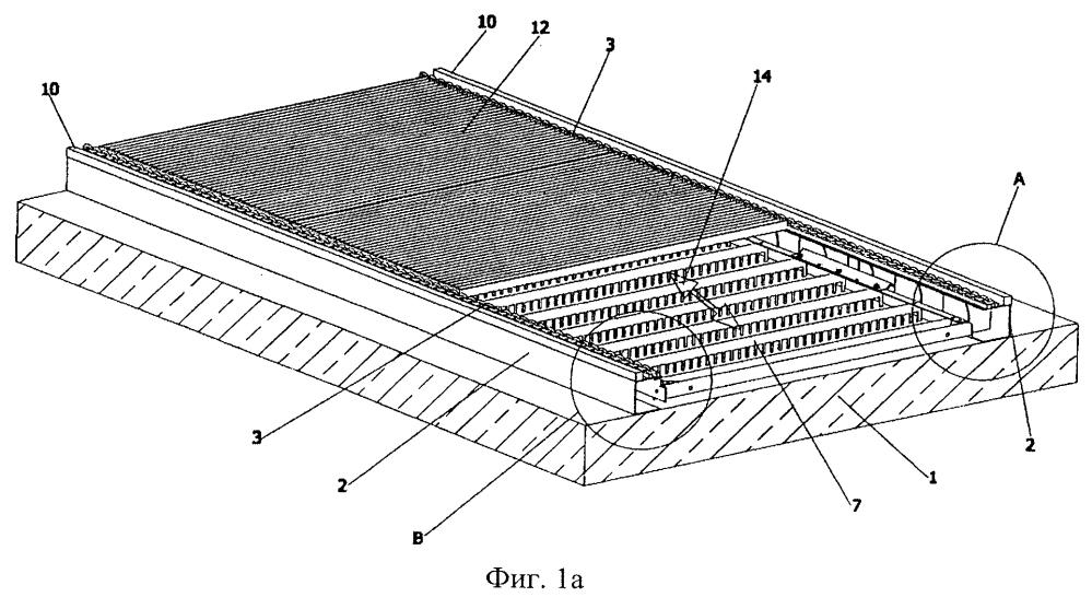 Коридор для транспортировки абразива в ударной камере и способ перемещения мостового устройства в ударной камере с коридором для транспортировки абразива