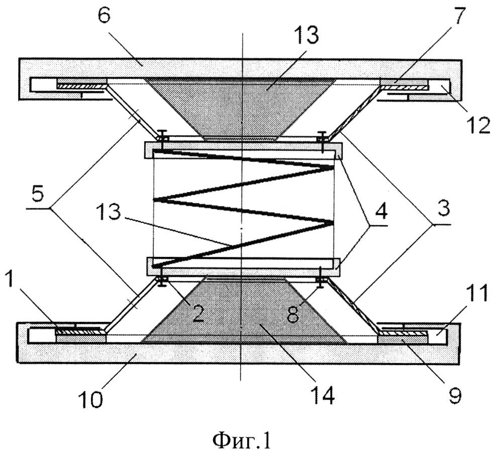Тарельчатый упругий элемент с буферным элементом
