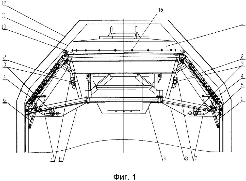 Блок системы охлаждения локомотива
