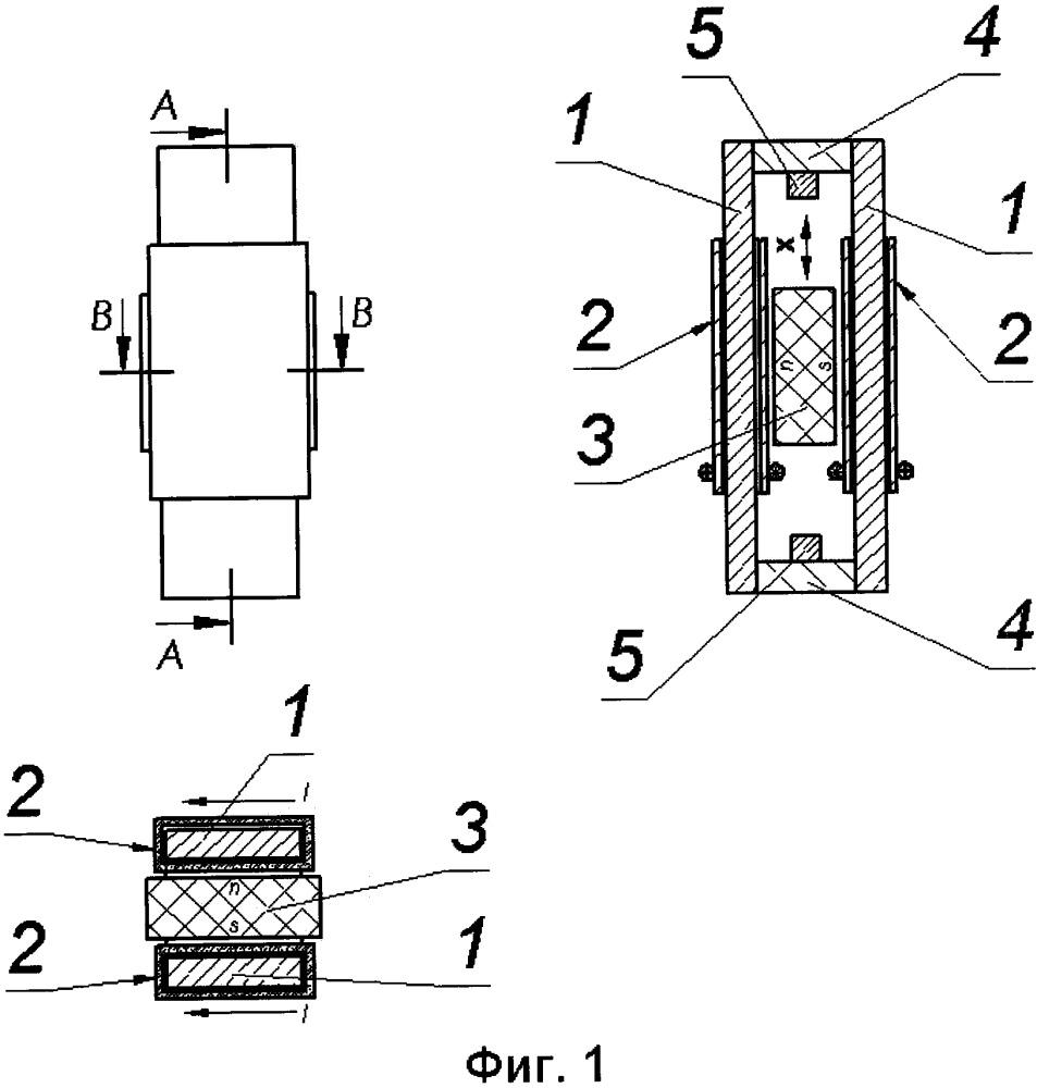 Линейный двигатель с подвижным магнитом