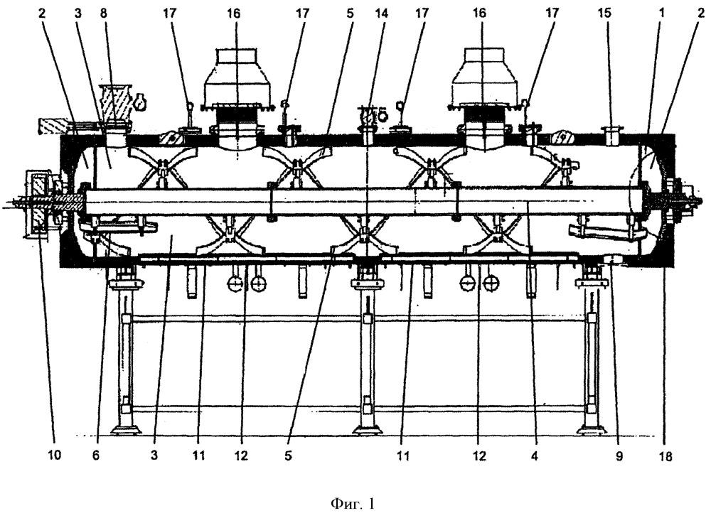 Устройство в форме ротационного реактора для термолиза и способ осуществления работы такого реактора в системе для термического разложения отходов и сбросных продуктов