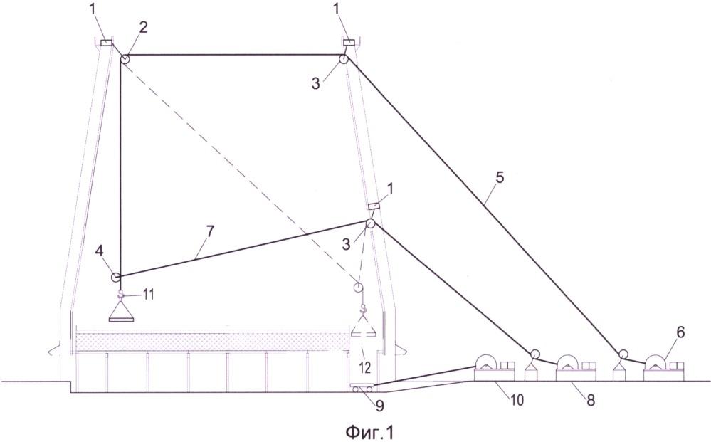 Способ бескранового демонтажа и монтажа конструкций внутри металлических градирен