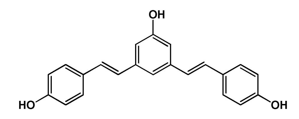 Местное применение 1-гидрокси 3,5-бис(4′гидроксистирил)бензола
