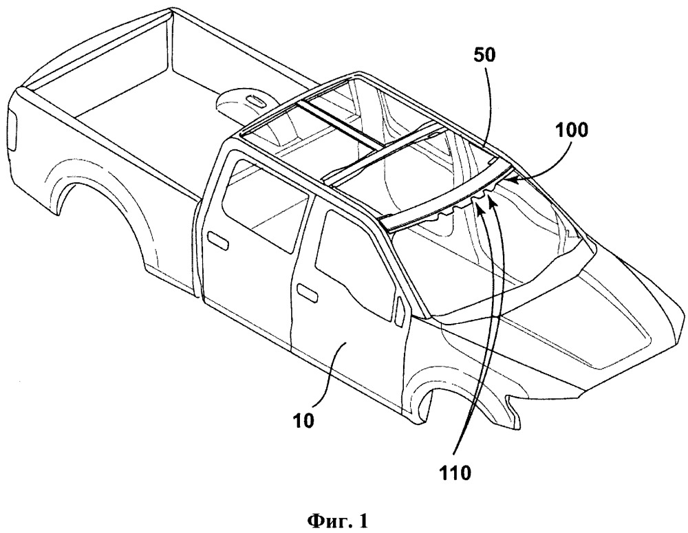 Компонент кузова транспортного средства для уменьшения напряжения при изгибе
