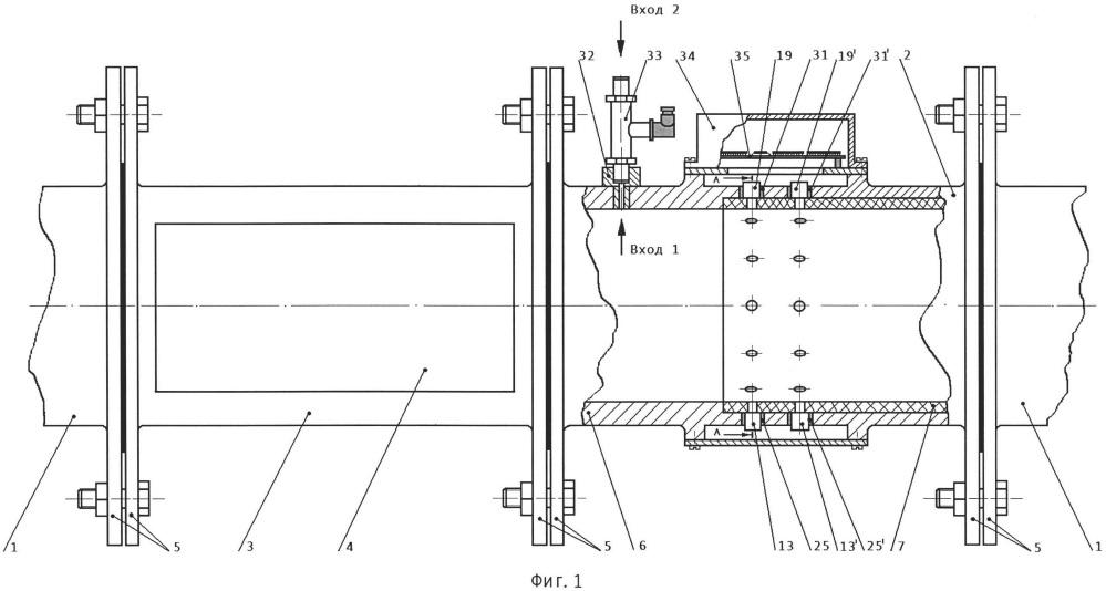 Способ и устройство для распознавания режимов течения газожидкостного потока в горизонтальном трубопроводе