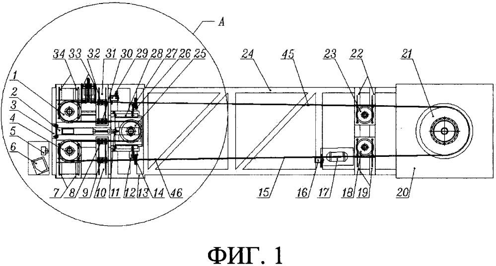 Система мониторинга усталости материала при изгибе для стальных канатов при действии на них коррозии и переменной нагрузки