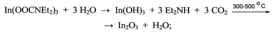 Трис(n,n-диэтилкарбамат) индия, способ его получения и получение пленок оксида индия на его основе