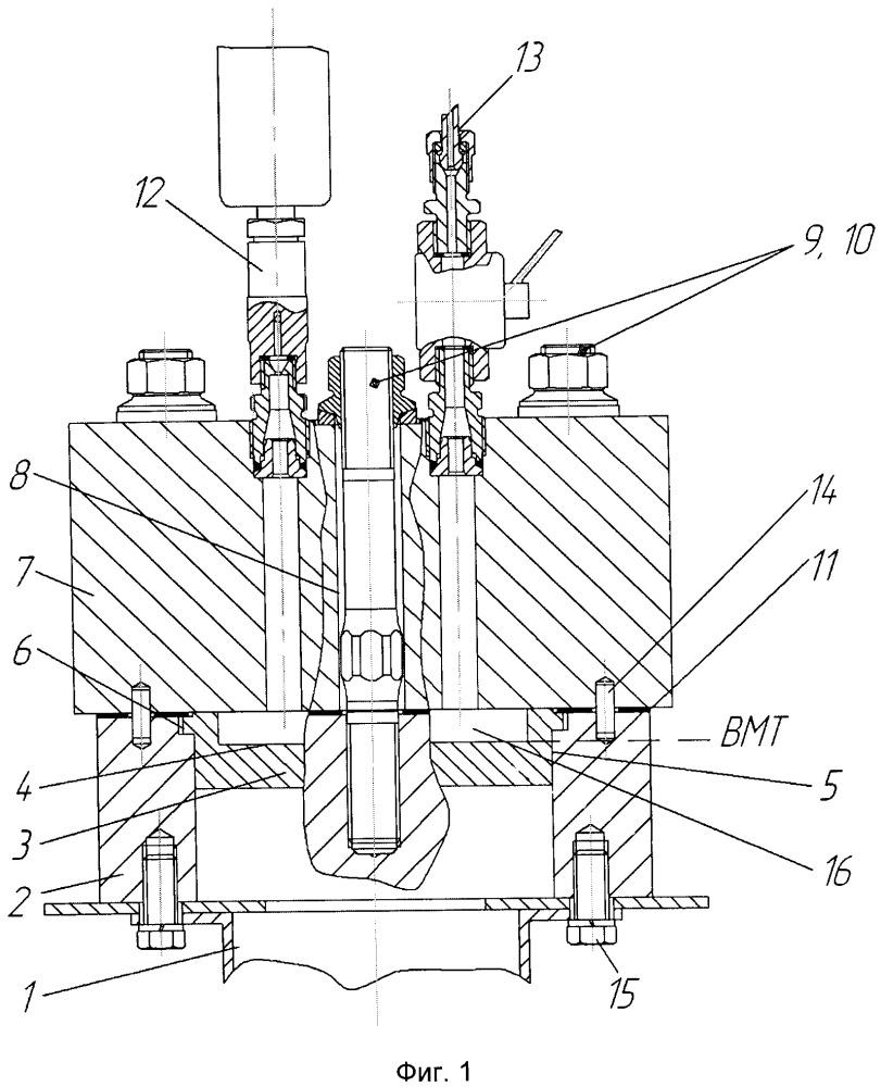 Установка для оценки параметров составных частей камеры сгорания дизельного двигателя