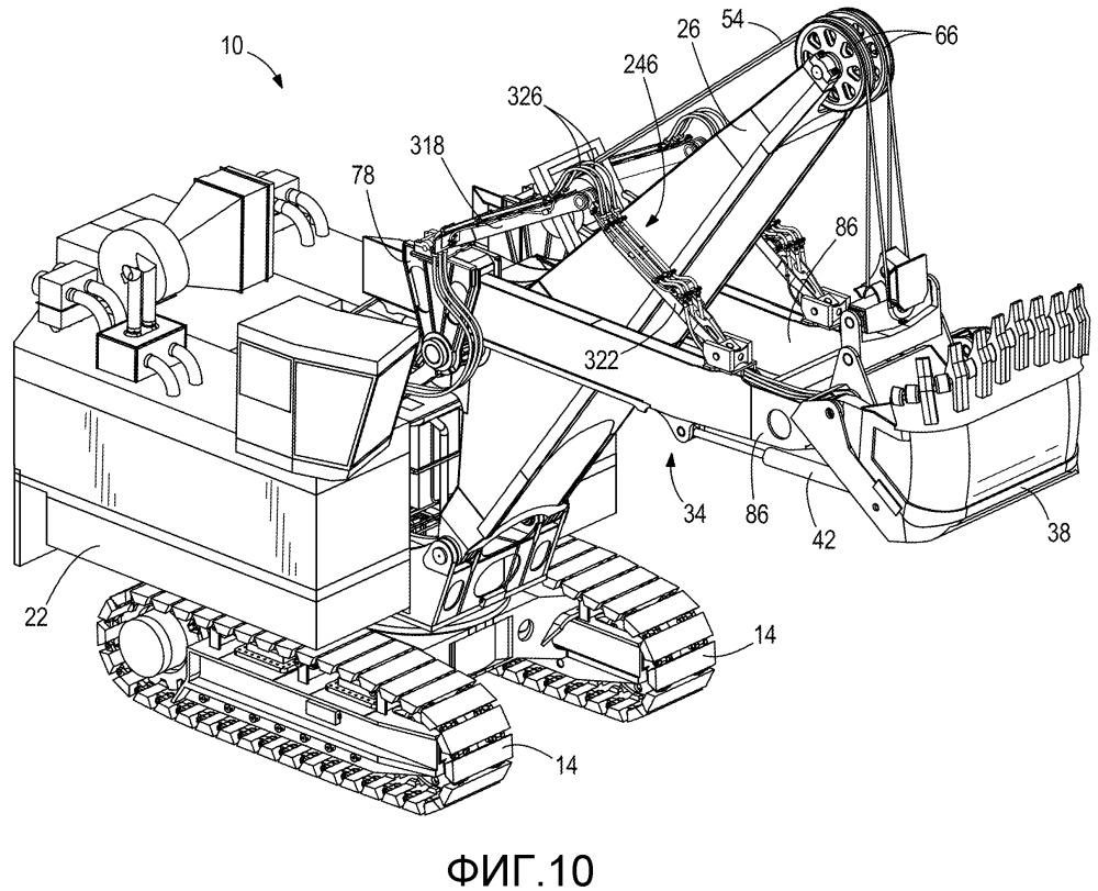 Конструкция для поддержания трубопровода для промышленной машины