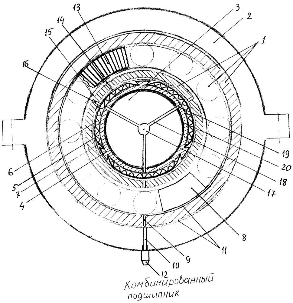 Комбинированный радиальный подшипник с широким диапазоном рабочих скоростей и нагрузок (варианты)