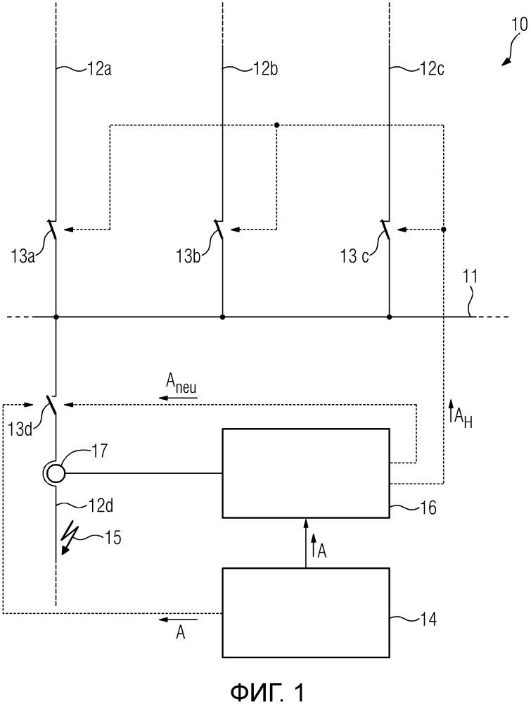 Способ и устройство защиты для контроля силового переключателя в электрической сети энергоснабжения