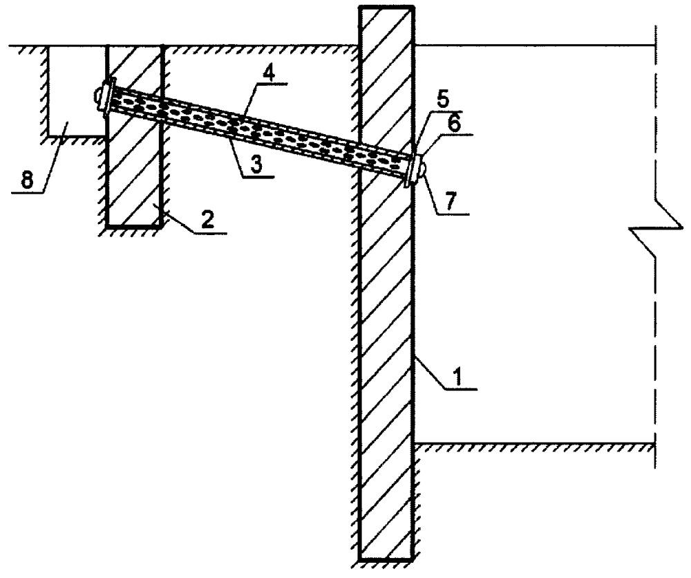 Анкерная система крепления подпорной стенки