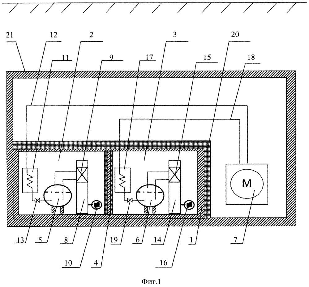 Комплекс долговременного хранения и использования криогенных компонентов топлива