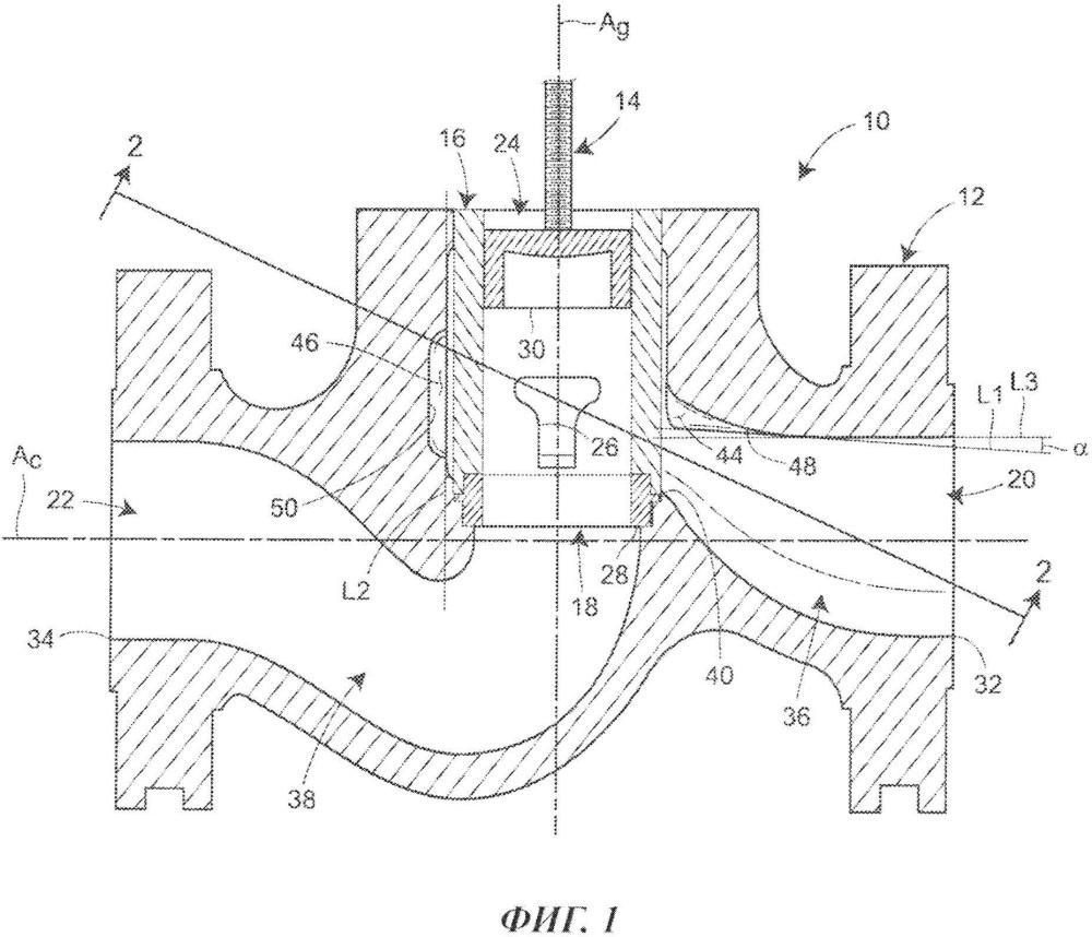 Корпус клапана с верхним отклоняющим устройством для отклонения потока