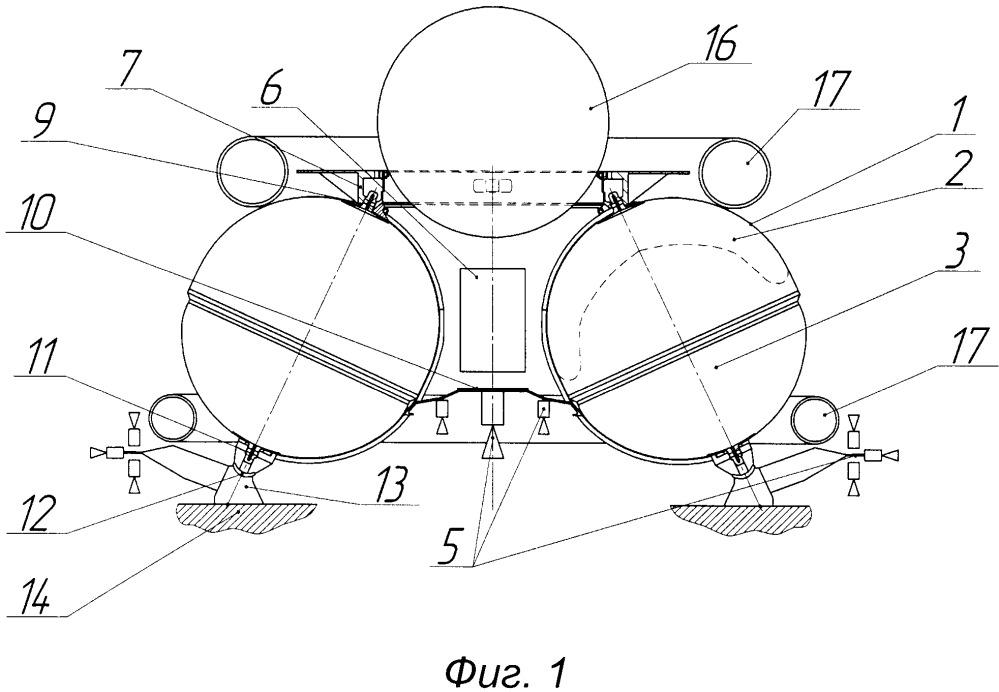 Двигательный модуль космического летательного аппарата