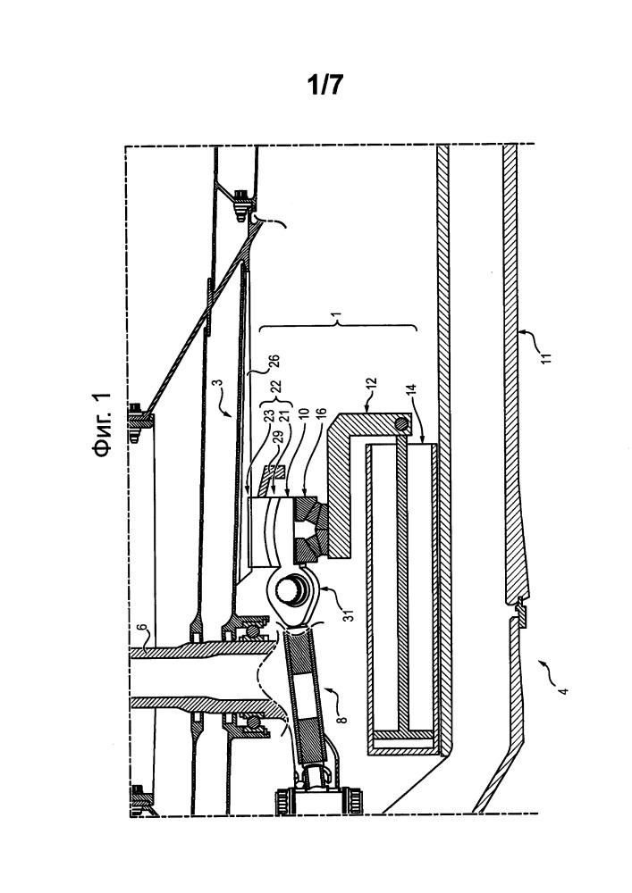 Устройство и способ для регулировки угла установки лопастей