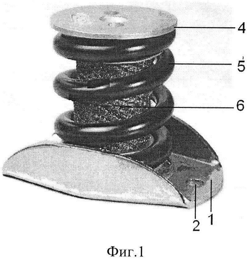 Виброизолятор пружинный кочетова с сетчатым демпфером