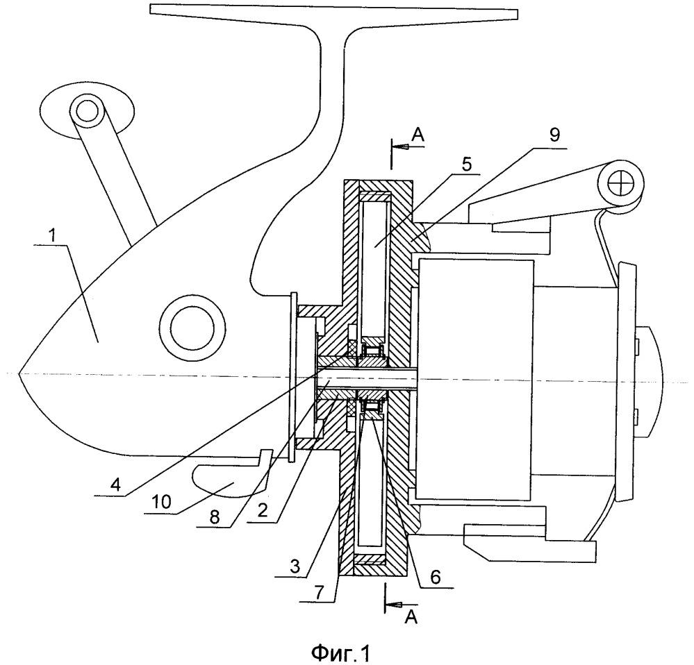 Безынерционная катушка с амортизатором