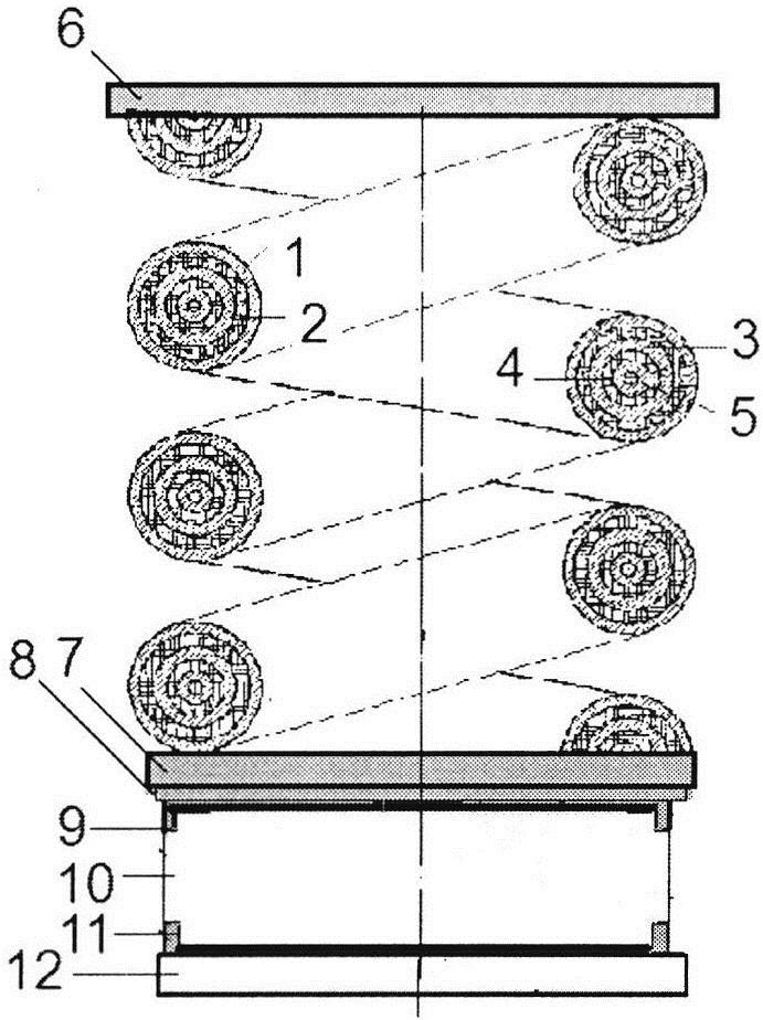 Вибродемпфирующая пружина