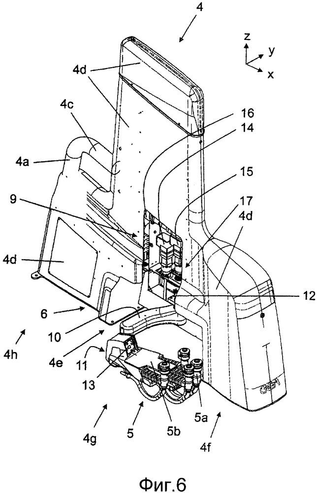 Рычажный механизм для доильной установки для автоматического доения дойных животных, перегородка доильной установки и доильная установка