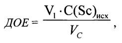 Твердый экстрагент с высокой динамической обменной емкостью для извлечения скандия и способ его получения