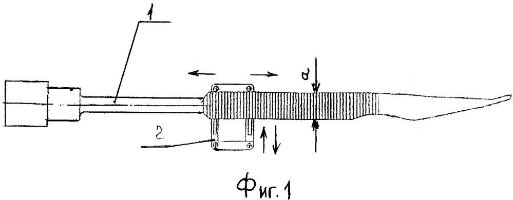 Устройство фиксации многофункционального инструмента с протяженной рукояткой с продольным непрерывным и глухим пазом для использования космонавтом в условиях невесомости