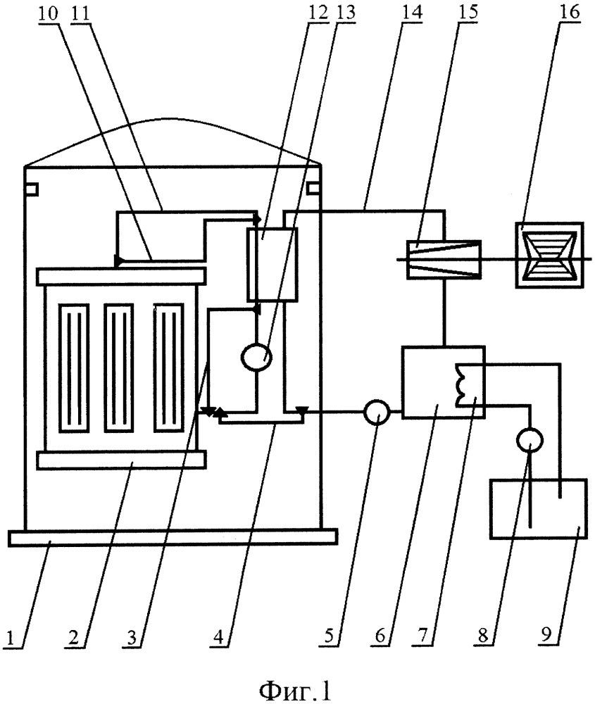 Аварийная система охлаждения ядерного реактора