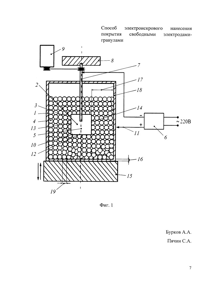 Способ электроискрового нанесения покрытия свободными электродами-гранулами
