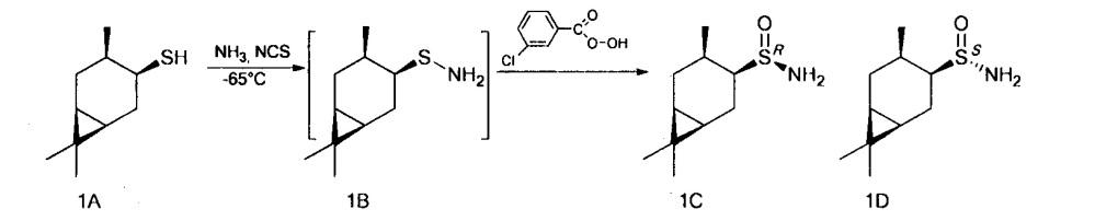 Способ получения хиральных монотерпеновых сульфинамидов