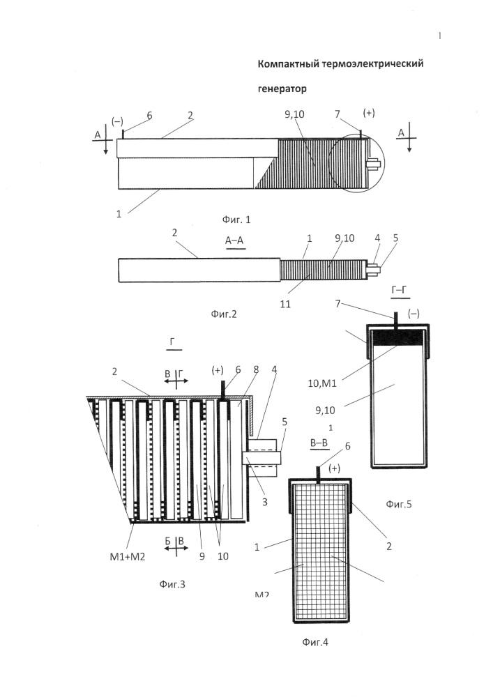 Компактный термоэлектрический генератор