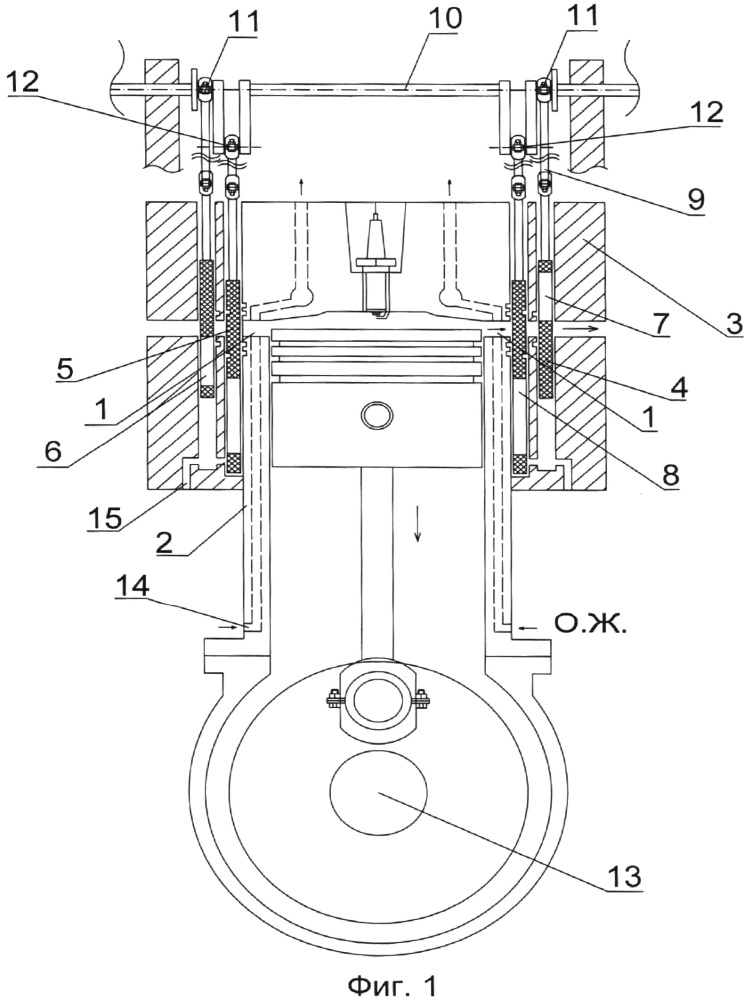 Газораспределительный механизм четырехтактного двигателя внутреннего сгорания