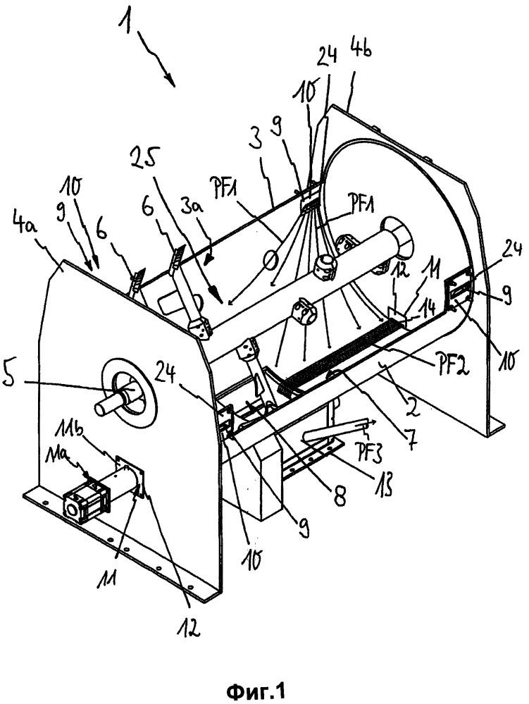 Устройство для смешивания сухих и/или рассыпчатых насыпных материалов и способ очистки смесительного резервуара