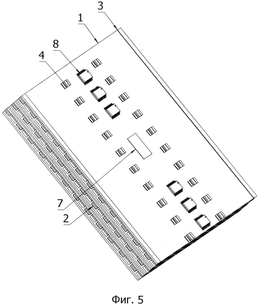 Низкопрофильный светодиодный модуль с беспроводной передачей данных и способы его плотной упаковки