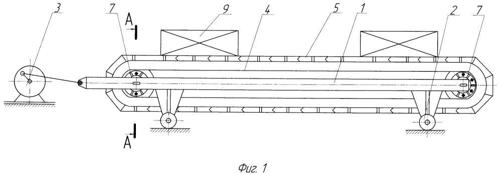 Пластинчатый конвейер с инерционным приводом